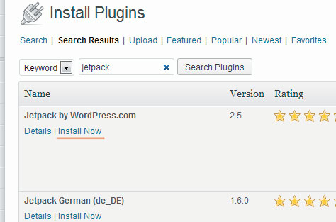 Install plugin Jetpack.