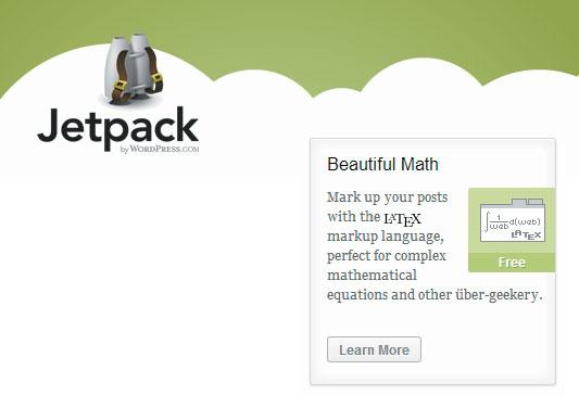 Jetpack mendukung Latex.