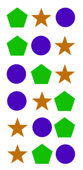 Ada enam kemungkinan menempatkan tiga objek.