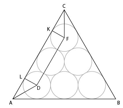 Perhatikan bentuk ini, ADFCKL, yang terdiri dari dua segitiga identik dan sebuah persegi.