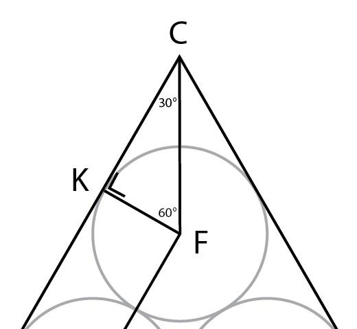 Sudut segitiga di salah satu titik sudut segitiga.