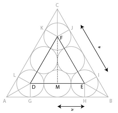 Menghitung segitiga di bagian dalam.