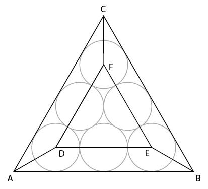 Menghitung luas seluruh segitiga.