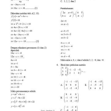 Soal Pembahasan Ujian Nasional Matematika Teknik 2016-03