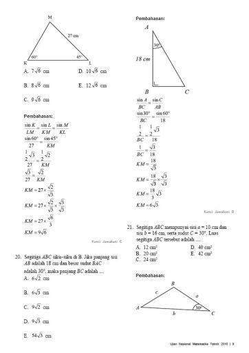 Soal Pembahasan Ujian Nasional Matematika Teknik 2016-09
