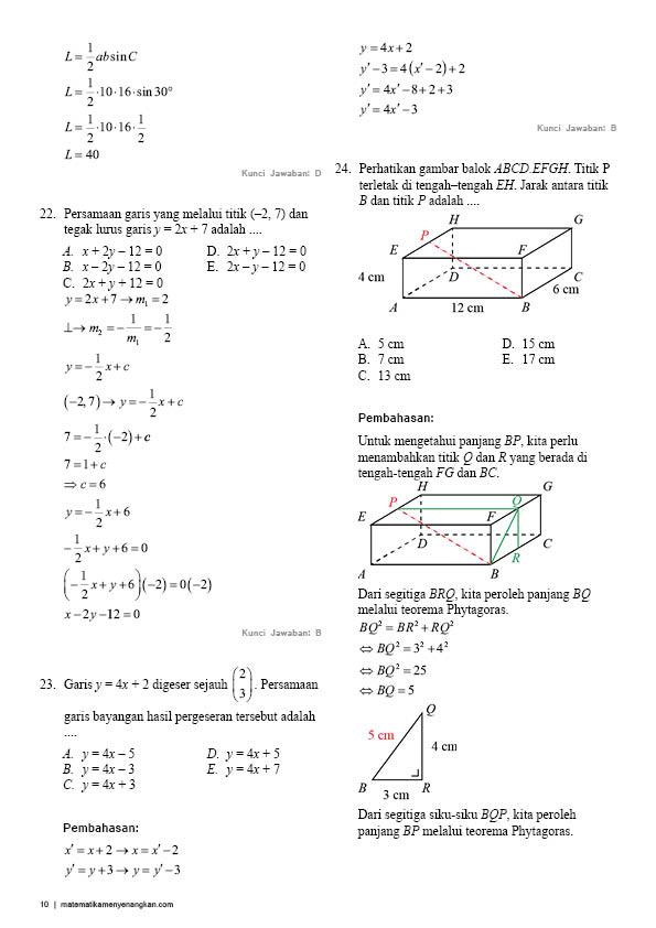 Soal Matematika Smk Kelas Xii Dan Pembahasannya Ilmusosial Id